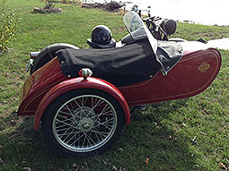 1938 Nimbus with Engstrom sidecar with brake FOR SALE