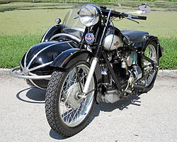 1945 Nimbus with 1946 Bender Sidecar